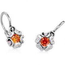 Cutie Jewellery Dětské náušnice C2178-10-X-2 bílá