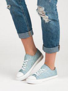 Brokátové modré tenisky