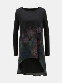 Černé vzorované šaty s dlouhým rukávem Desigual Gretel