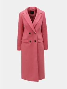 Růžový dlouhý kabát Dorothy Perkins