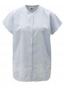 Bílo-modrá pruhovaná halenka s výšivkou Blendshe Camilia