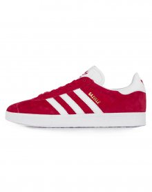 adidas Originals Gazelle Scarlet / Footwear White / Gold Metallic 44