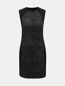 Černé pouzdrové vzorované šaty Desigual Corinto