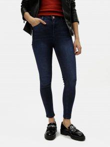 Tmavě modré skinny džíny s vysokým pasem Dorothy Perkins Petite Shape & Lift