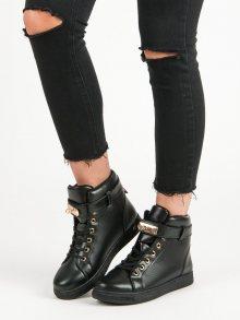 Černé sneakery se šněrováním