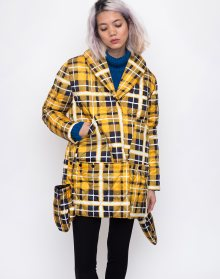 House of Sunny New Quilting Puffa Jacket Golden Plaid 40