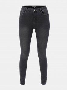 Šedé skinny džíny s vysokým pasem Dorothy Perkins Shape & Lift