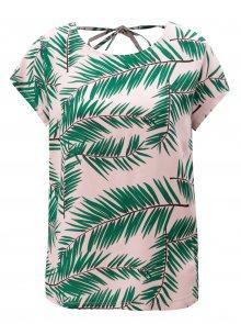 Zeleno-růžové vzorované tričko s hlubokým výstřihem na zádech Blendshe Adeli