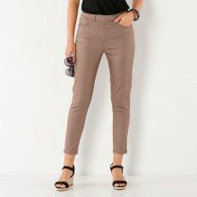Blancheporte 7/8 kalhoty se zipem hnědošedá 38