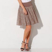 Blancheporte Rozšířená sukně s potiskem květin hnědošedá 42