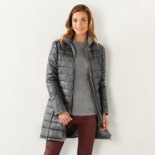 Blancheporte Lehká prošívaná bunda, dlouhá šedá 38