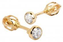 Brilio Zlaté náušnice s krystalem 236 001 00529 - 1,00 g
