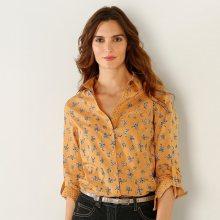 Blancheporte Košile s květinovým potiskem šafránová 38