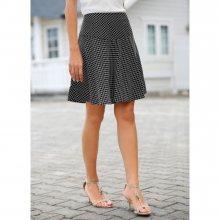 Blancheporte Rozšířená sukně s grafickým vzorem černá/bílá 38