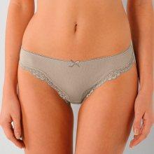 Blancheporte Originální mini kalhotky, sada 3 ks hnědošedá 36/38
