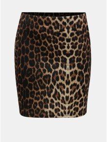 Černo-hnědá sukně s leopardím vzorem TALLY WEiJL