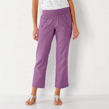 Blancheporte 7/8 kalhoty len/bavlna lila 36