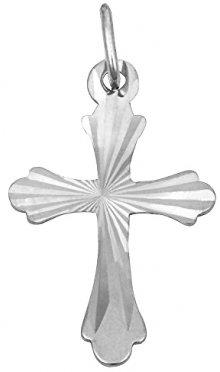 Brilio Přívěsek z bílého zlata Křížek s rytím 241 001 01032 07 - 0,35 g