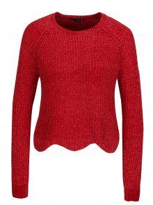 Červený krátký svetr s tvarovaným lemem TALLY WEiJL