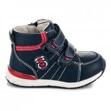 Pohodlné dětské modré kotníkové boty