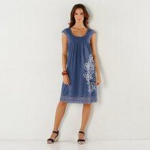 Blancheporte Macramé šaty s potiskem modrošedá 36