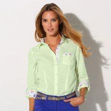 Blancheporte Jednobarevná košile světlě zelená 42