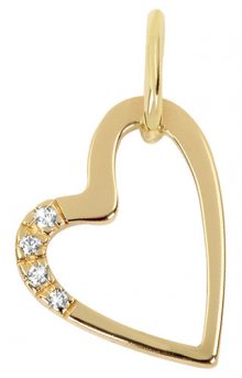 Brilio Zlatý přívěsek srdce s krystaly 249 001 00429 - 0,75 g
