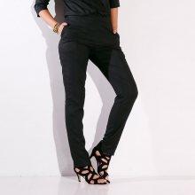 Blancheporte Jednobarevné vzdušné kalhoty černá 38