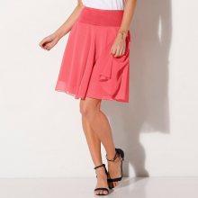 Blancheporte Jednobarevná rozšířená sukně korálová 42