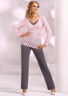 Dámské pyžamo Donna Sonia růžová XXL Světle růžová