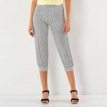 Blancheporte 3/4 kalhoty s grafickým vzorem černá/bílá 42/44