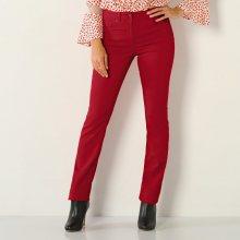 Blancheporte Strečové rovné kalhoty červená 40