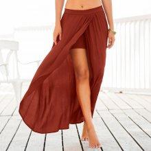 Blancheporte Dlouhá sukně s pouzdrovým efektem červená 46