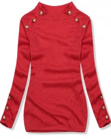 Červený lehký pulovr