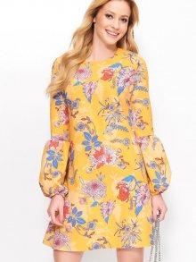 Makadamia Dámské šaty_yellow flowers\n\n