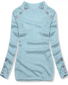 Světle modrý lehký pulovr