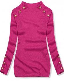 Růžový lehký pulovr