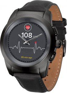MyKronoz Hybridní hodinky ZeTime Premium Black/Black - 39 mm
