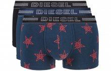 Boxerky 3 ks Diesel | Černá Modrá | Pánské | L