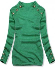 Zelený lehký pulovr