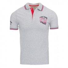 Pánské polo tričko s krátkým rukávem šedé