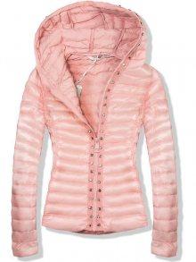 Růžová bunda F889