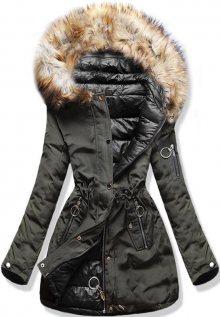 Oboustranná khaki/černá bunda