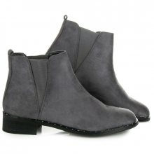 Lehké šedé nízké kotníkové boty s elastickými vsadkami