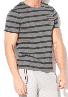 Pánské tričko Guess U84I02 L Tm. šedá