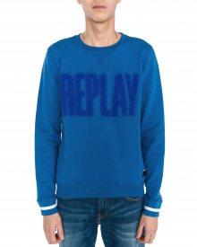 Mikina Replay | Modrá | Pánské | M