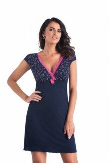 Donna Marina noční košilka S tmavě modrá-růžová