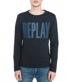 Triko Replay | Modrá | Pánské | S