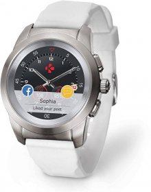MyKronoz Hybridní hodinky ZeTime Original Silver/White - 39mm