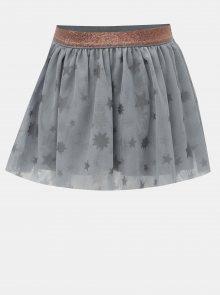 Šedá holčičí tylová sukně s potiskem hvězd BÓBOLI